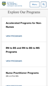 University of Rochester School of Nursing