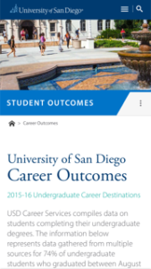 University of San Diego Career Outcomes