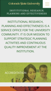 Colorado State University Institutional Research