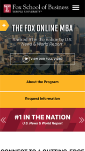 Temple University Online MBA