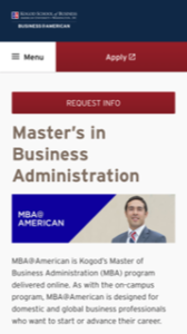American University Online MBA