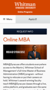 Syracuse University Online MBA