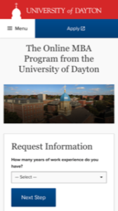 University of Dayton Online MBA