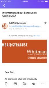 Syracuse University Online MBA