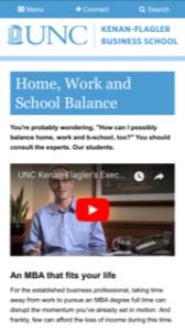 UNC Kenan-Flagler Executive MBA