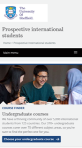 University of Sheffield International Students