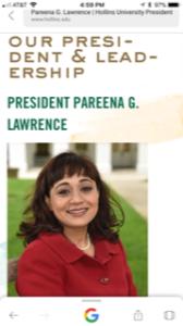 Hollins University president profile