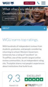 Western Governors University Student Reviews
