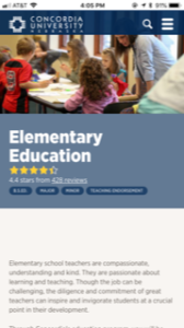 Concordia University Nebraska Elementary Education