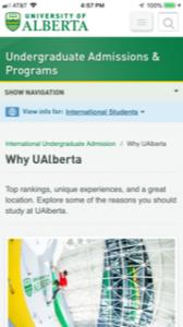 University of Alberta International Students