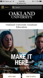 Oakland University Graduate education