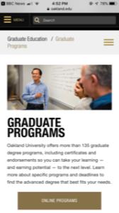 Oakland University Graduate Programs