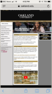 Oakland University Online Programs