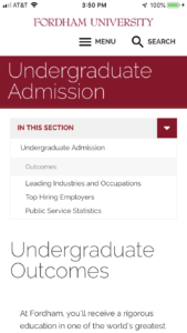 Fordham University Undergraduate Outcomes