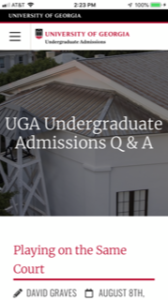 University of Georgia Admissions Blog