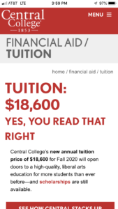 Central College Tuition and Financial Aid