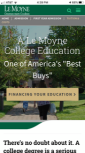 Le Moyne College Tuition and Costs