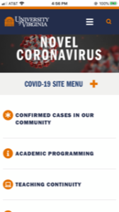 University of Virginia Coronavirus