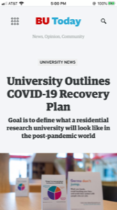 Boston University Coronavirus news