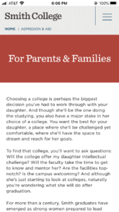 Smith College Parents and Families