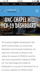 UNC -Chapel Hill COVID 19