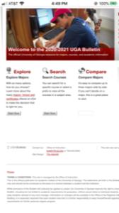University of Georgia Academic Bulletin